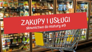 zakupy i usługi po angielsku